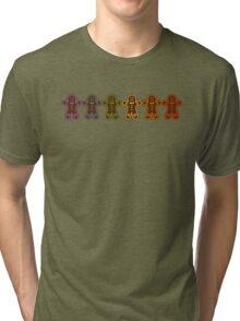 Rainbow Gingerbreads  Tri-blend T-Shirt