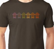 Rainbow Gingerbreads  Unisex T-Shirt