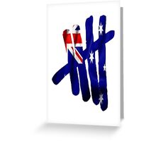 5SoS Aussie Tally Greeting Card