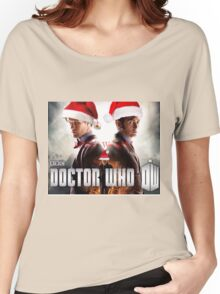 Doctor who Christmas style 50th anniversary  Women's Relaxed Fit T-Shirt