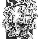 Smokey Skull Design by hatefueled