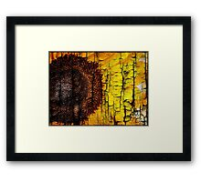 Sunflower on Wood Framed Print