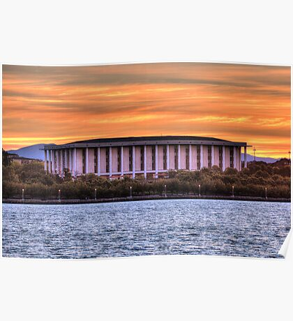 National Library Canberra Australia  just on sunset Poster