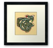 Celtic Oscar letter T (New Manuscript version) Framed Print