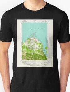 USGS Topo Map Washington State WA Dungeness 240898 1938 62500 T-Shirt