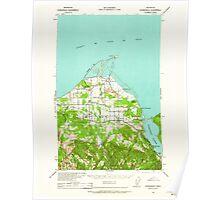 USGS Topo Map Washington State WA Dungeness 240898 1938 62500 Poster