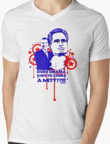 OBAMA VS MITT tee :D Mens V-Neck T-Shirt
