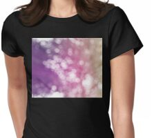 bokeh background II Womens Fitted T-Shirt