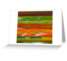 Cherryplums, abstract Greeting Card