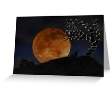 Halloween on Haunted Hill Greeting Card