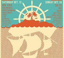 Treasure Island Music Festival Poster by Jordan Barendse