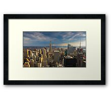 Midtown Manhattan Sunset Framed Print