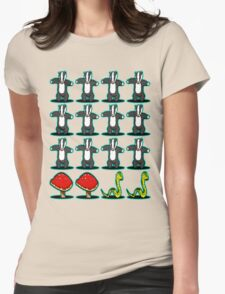 Badger Badger Mushroom Snake Womens Fitted T-Shirt