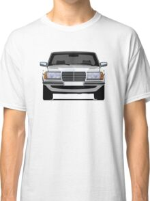 Mercedes-Benz W123 white illustration Classic T-Shirt