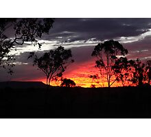 Sunset over Limestone Photographic Print