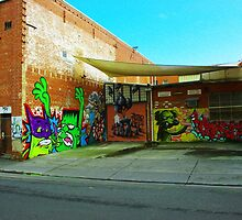 Graffiti Wall by Aaron Walker