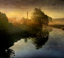 Mist over the canal. by Irene  Burdell