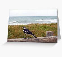 Beach Bird Two - 14 10 12 Greeting Card