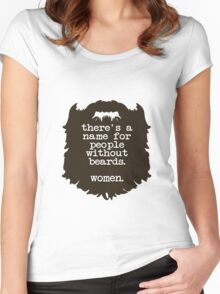 Beard Insult Women's Fitted Scoop T-Shirt