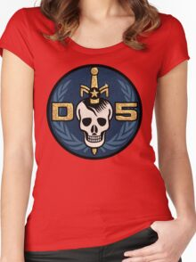 Danger 5 Emblem (Gigantic) Women's Fitted Scoop T-Shirt