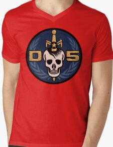 Danger 5 Emblem (Gigantic) Mens V-Neck T-Shirt
