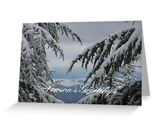 Pine Trees and Snow Season's Greetings From Fethiye Greeting Card