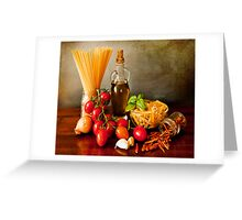 Italian pasta, arrabbiata sauce recipe Greeting Card