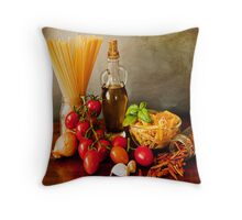 Italian pasta, arrabbiata sauce recipe Throw Pillow