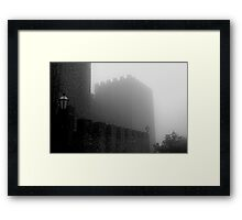 Castle on fog Framed Print