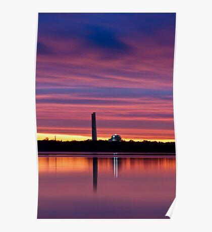 Lake Munmorah Sunset 21-10-12 Poster