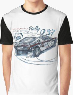 Rally Group B-Lancia 037 Rally Graphic T-Shirt