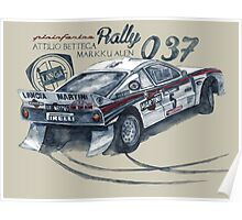 Rally Group B-Lancia 037 Rally Poster