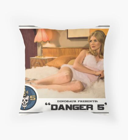 "Danger 5 Lobby Card #1 - ""The fruit is ripe but the tree is yet to be harvested"" Throw Pillow"