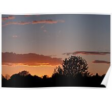 April Sunset and Clouds Poster