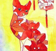 Lantern Cat by RagAragno