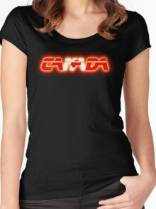 Canada - Flag Logo - Glowing Women's Fitted Scoop T-Shirt