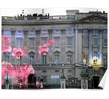 Light show on Buckingham Palace Poster
