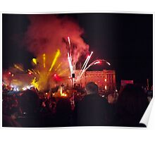 Fireworks during Queen's Jubilee Concert Poster