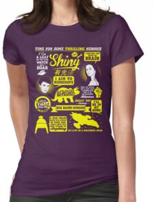 Shiny Quotes Womens Fitted T-Shirt