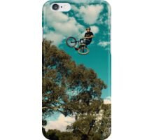 BMX flying over a gum tree iPhone Case/Skin