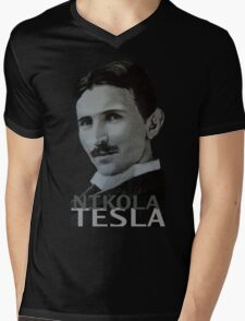 NikolaTesla Mens V-Neck T-Shirt