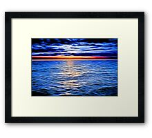 Sunset and the Sea Framed Print
