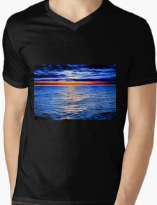 Sunset and the Sea Mens V-Neck T-Shirt