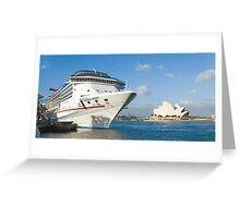 Mighty Big Ship Greeting Card