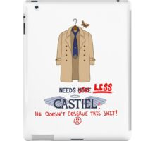 Needs Less Castiel iPad Case/Skin