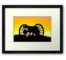 Golden iron cannon Framed Print