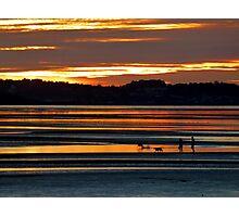 Traeth Lafan Sunset - October 2012 #2 Photographic Print