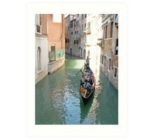 Gondola on the canal of Venice Art Print