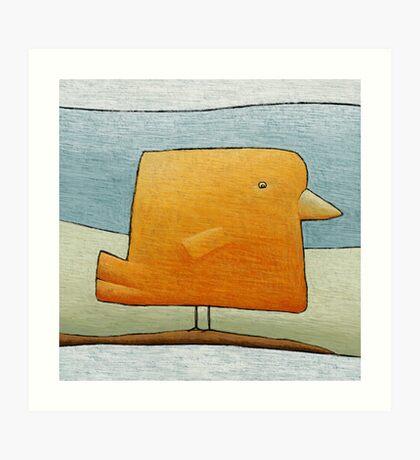 Golden Canary Bird Art Print