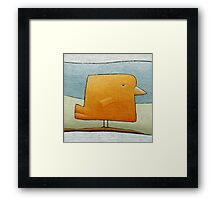Golden Canary Bird Framed Print